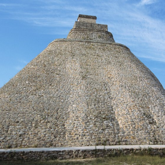 Pyramid of the Magician in Yucatán is one of many famous Mayan landmarks.