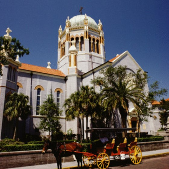 St. Augustine is home to one of the designated historical districts in Florida.