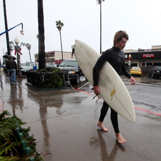 Surfing is an option for teens visiting San Diego.