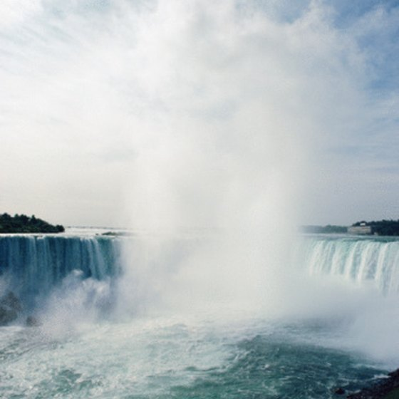 Niagara Falls is located on the border of New York and Canada.