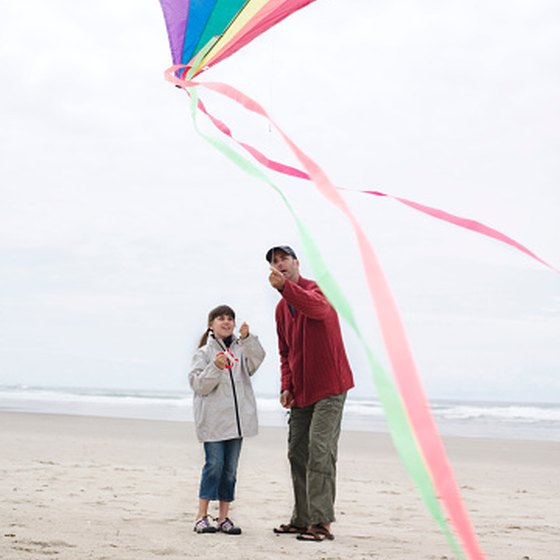 Winds along the Oregon shoreline are usually perfect for a day of flying kites on the beach.