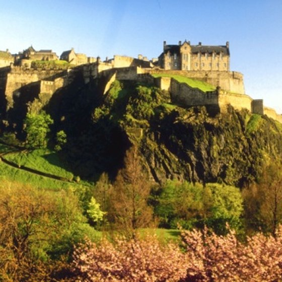 Edinburgh Castle overlooks the surrounding city.