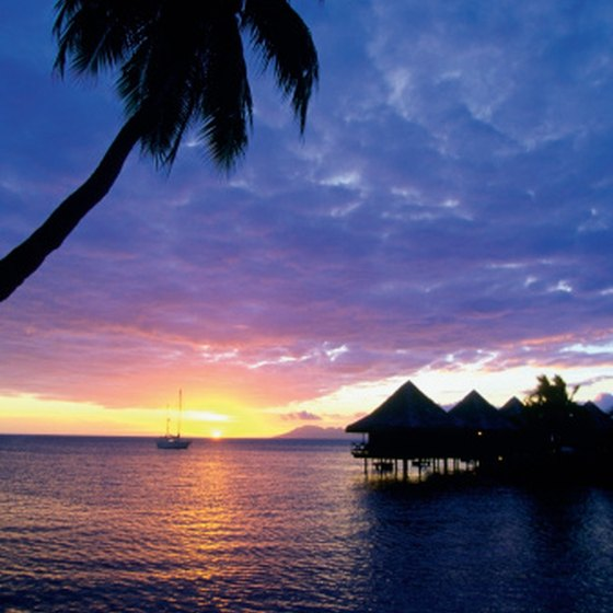 Enjoy beautiful French Polynesian sunsets while sailing from Hawaii to Australia.
