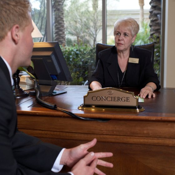 Compensation shows the hotel concierge that you appreciate her services.