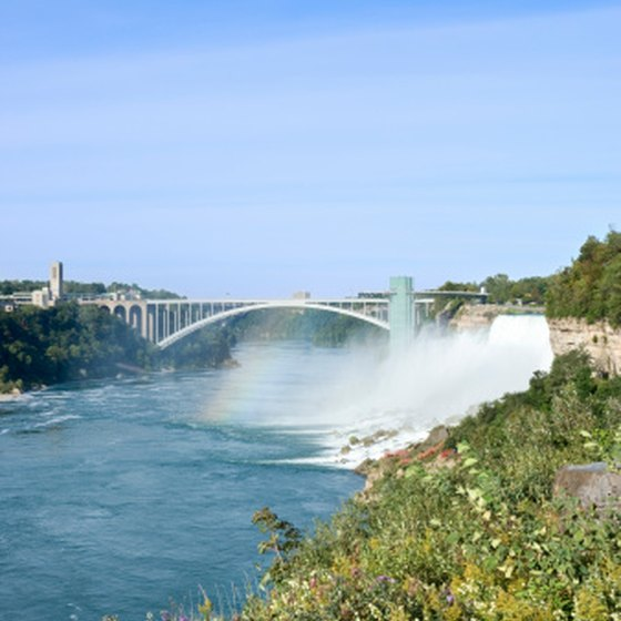 Hotels in New York provide convenient access to Niagara Falls.
