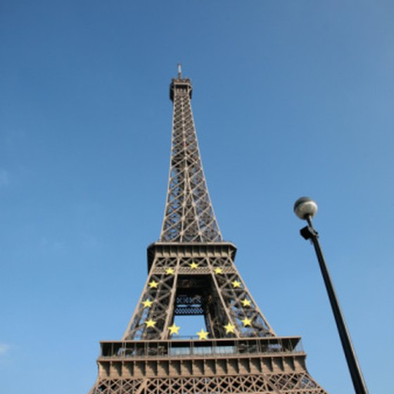 The famous Eiffel Tower in Paris.