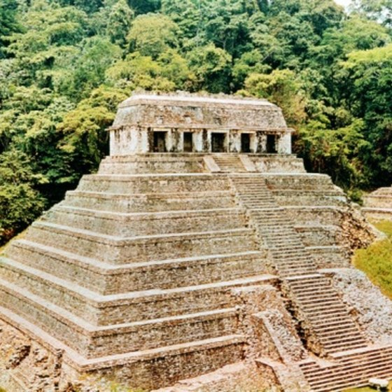 The Temple of the Inscriptions is the most famous structure in Palenque.