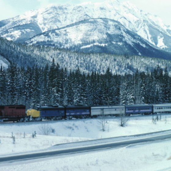 Train trips across Canada offer many scenic views.