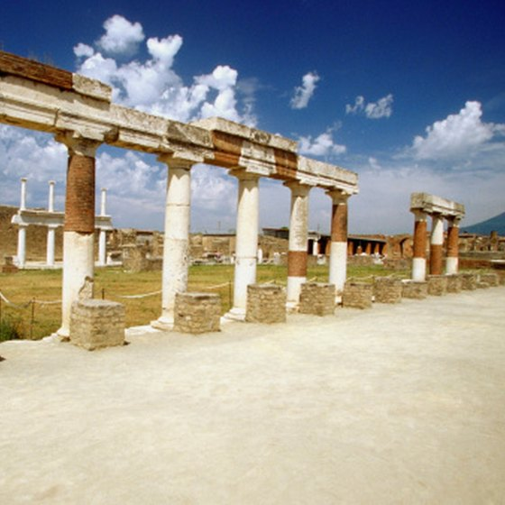 Pompeii's ruins in the open air make good weather beneficial when visiting the site.