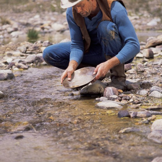 Panning for gold is a popular activity in California's Sierras.
