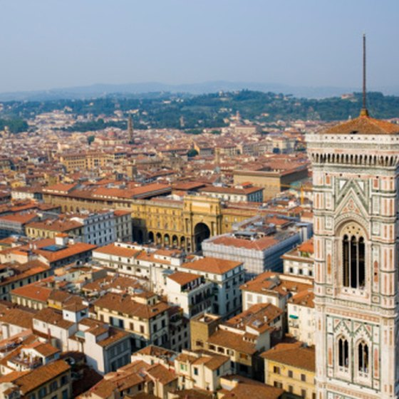 Florence is a quick trip from Rome by train.