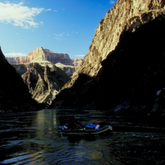 The Colorado River flows at the bottom of the Grand Canyon.