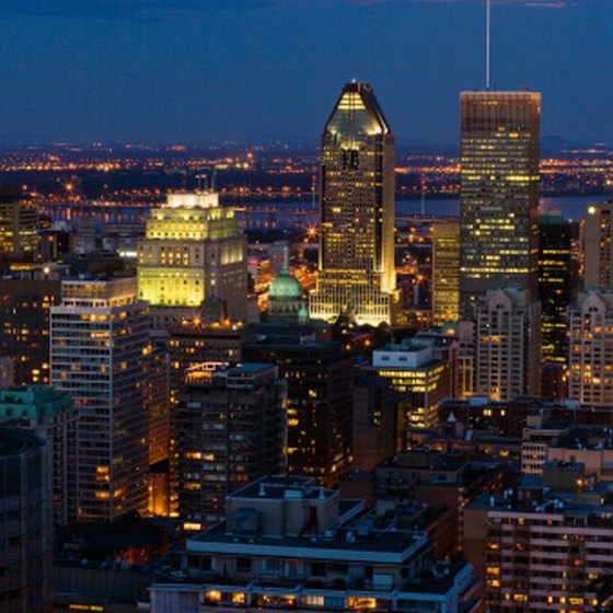 Montreal offers train, airplane and bus service to Quebec City.