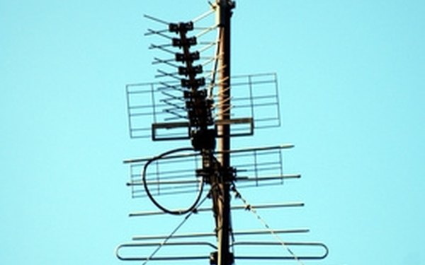 A solid metal antenna mast will keep an antenna safely up in the air, even during wind storms.
