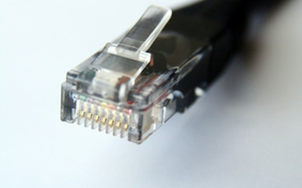 Conector de cable Ethernet.