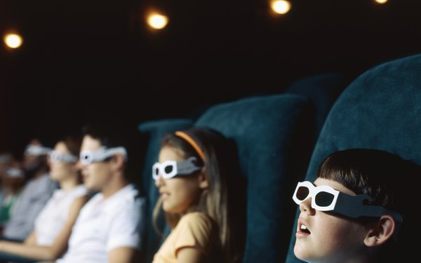 Un cine 3-D puede usar  Imax, RealD 3D o Dolby Digital 3D.