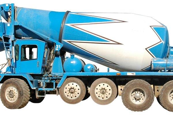 Camión de cemento limpio