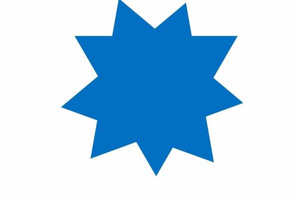 Cómo hacer una estrella de nueve puntas