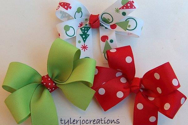 Moños navideños.