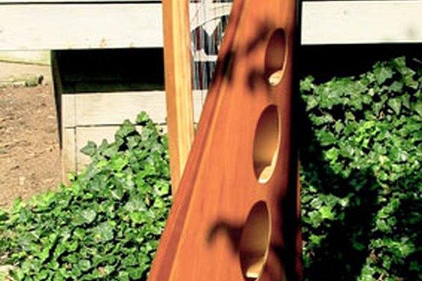 Un arpa célica de tres octavas.
