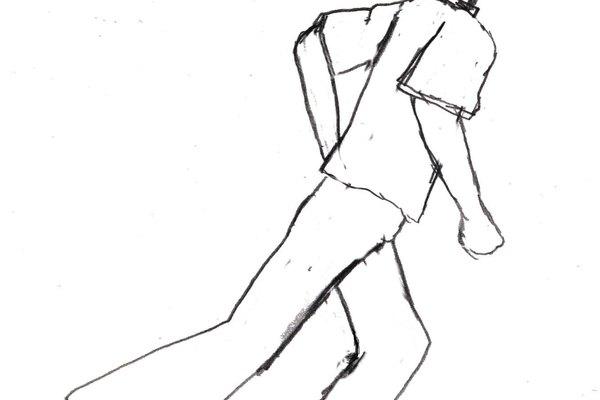 Dibujo de persona corriendo.