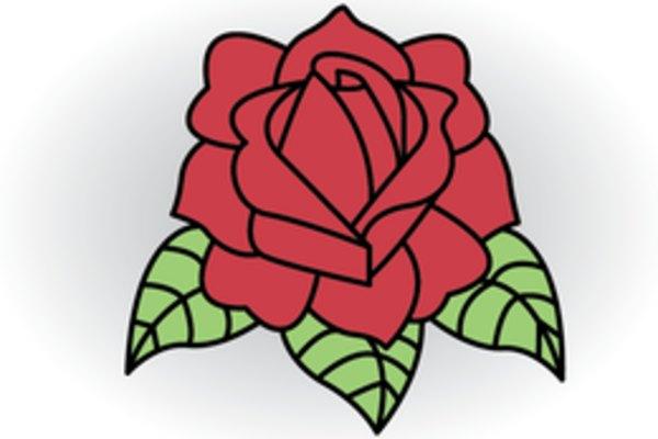 Cómo dibujar una rosa con el clásico estilo del tatuaje.