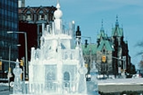 Hacer esculturas de hielo.