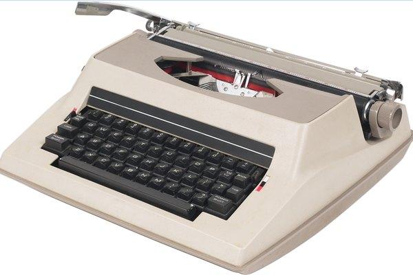 Dale mantenimiento a tu máquina de escribir.