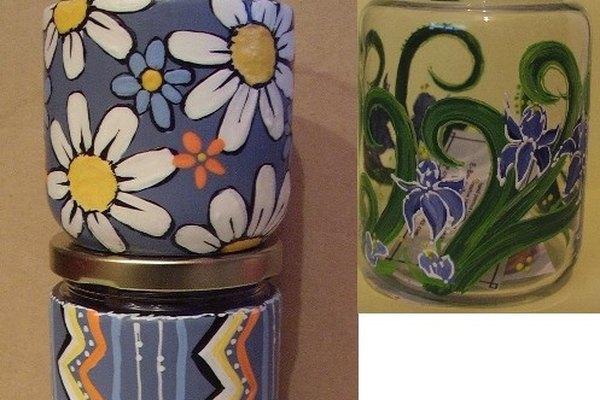 Los frascos embellecidos tienen muchos usos.