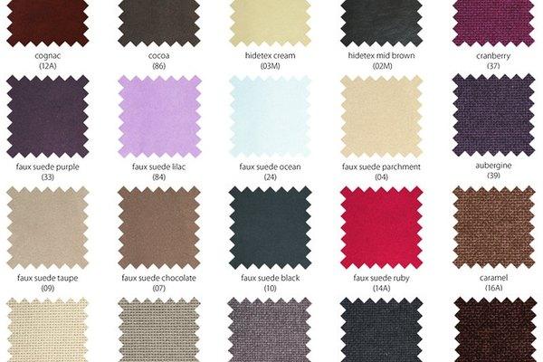Gama de colores a elegir para los vestuarios de una obra de teatro.