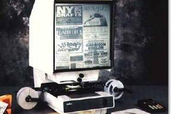 La microficha es una opción para el almacenamiento de libros.