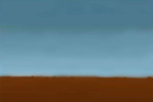 Un paisaje simple.