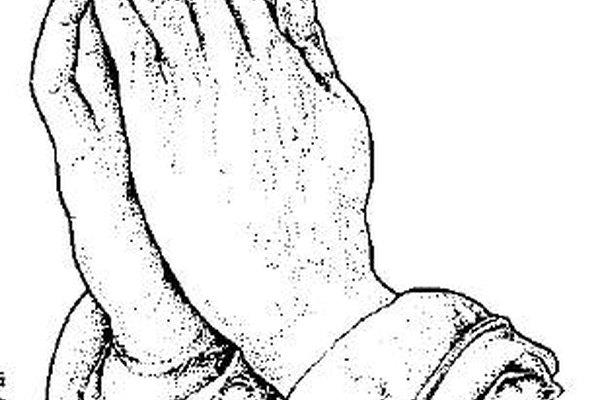 Las manos rezando son fáciles de aprender a dibujar.
