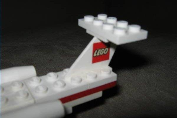 Lego airplane tail