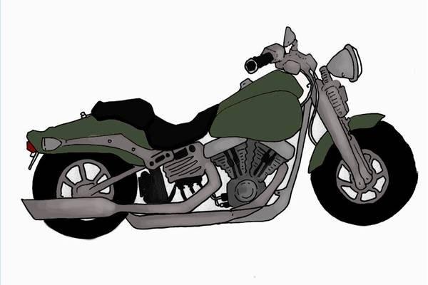 Pon una cinta a las bolsas de basura alrededor de todo el cromo y en cualquier parte de la moto que no desees pintar.