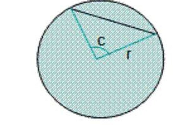 chord length given the radius and central angle