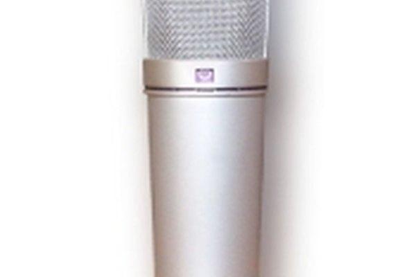 Un típico micrófono