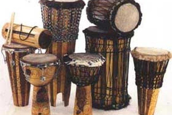 El tambor es el instrumento musical mas importante de África.