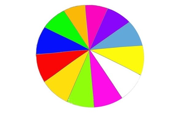 Each colored slice is a sector of the circle.