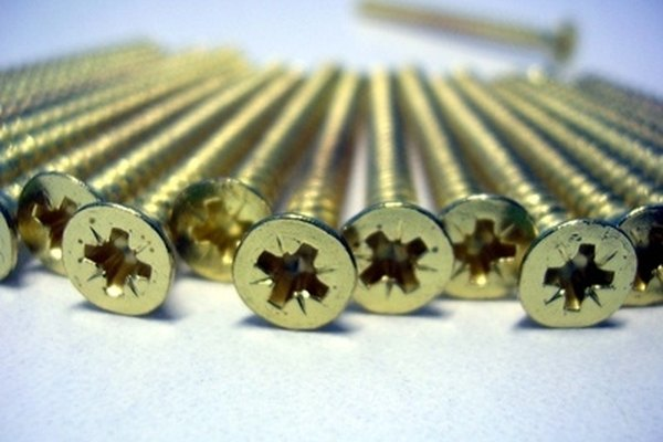 Conduct electricity using uncoated metallic screws.