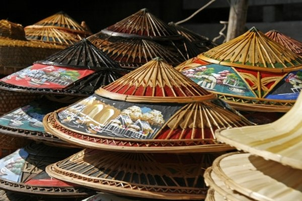 Weave your own conical straw hat.