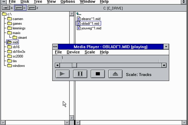 Windows 3.1's MIDI player