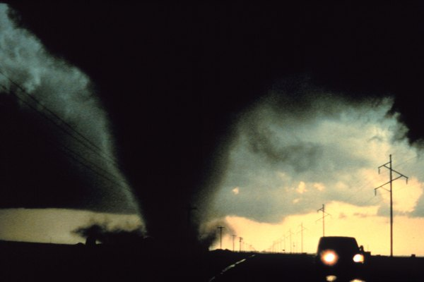 Tornado Hits Near Dimmitt, Texas, in 1995.