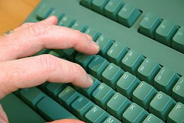 Typing an email