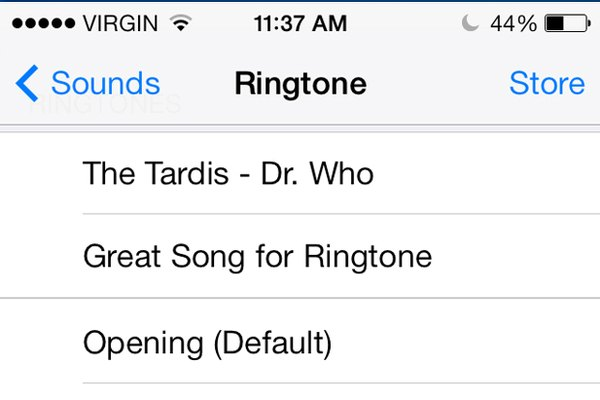 Use iTunes to turn a favorite song into a ringtone.
