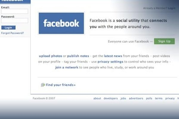 Www facebook homepage login find friends