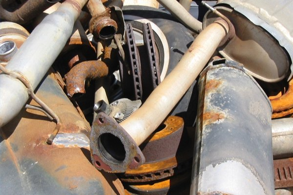 Car parts and scrap metal