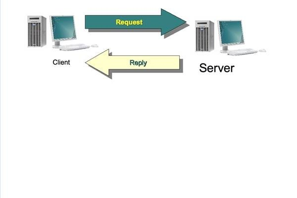 Clients request; servers provide