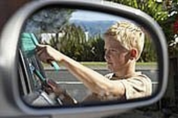Remove Scratches from a Car Mirror