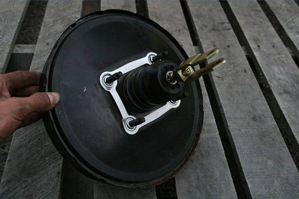 Typical automotive vacuum brake booster.
